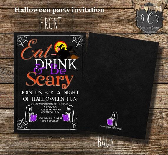 printable halloween party invitation halloween invitations