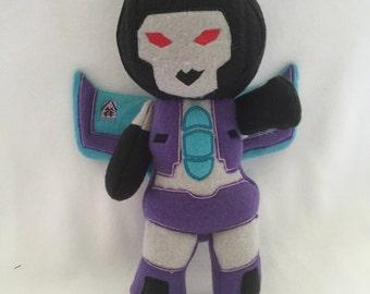 Transformers  Plush Plushie BittyBot Slipstream Toy from Mythfits