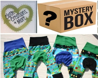 Monster Bunz MYSTERY BOX  Grab bag Grow with me Pants Discount Monkey Butt baby pants cloth diaper pants Cloth Creations and More Maxaloones