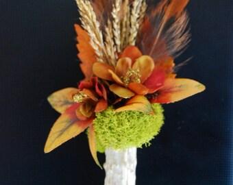 Boutonniere Woodland Wedding Wildflower Antler