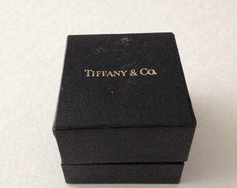 Vintage Tiffany & Co Navy Blue Ring Box