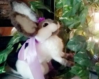 Hand-made Needlefelt Bunny