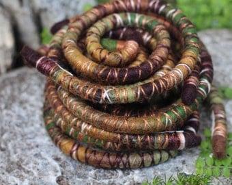 SPIRALOCK - Dreads wrap - Jungle Love - custom length Spiralock, made to order Original bendable dread tie since 2011