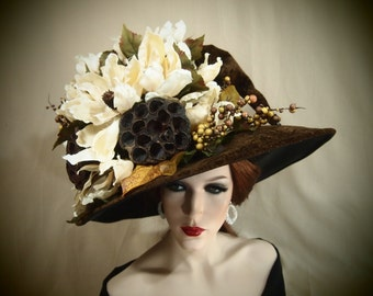 "Couture Witch Hat ""Belladonna"""