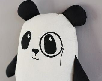 Geek Chic Panda Plush Toy with Monocle