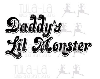 Daddy's Lil Monster Harley Quinn Iron on