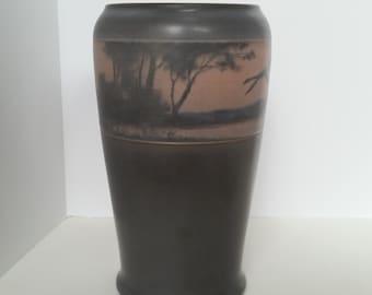 Rookwood Pottery, Scenic Vellum Vase, Lenor Ashbury Vase, Rookwood Vase, 1915 Vase, Collectors Pottery, Rare Art Pottery, Arts & Crafts Home