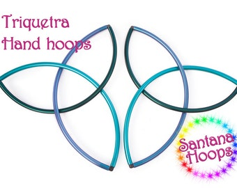 Custom Triquetra Hoops Fans Flow Props Polypro