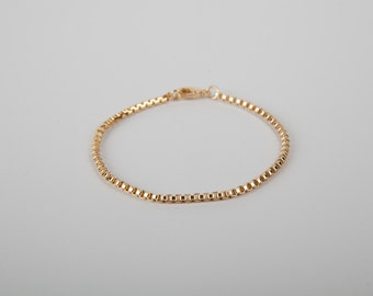 Pretty Bracelet Golden Chain Plated  Gold Plated Chain Venetian Bracelet