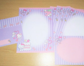 NEW- Hello Kitty Cute Purple & Pink Letter Writing Set.