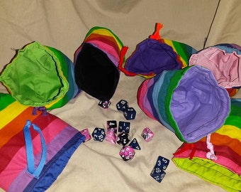 Rainbow Dice Bag