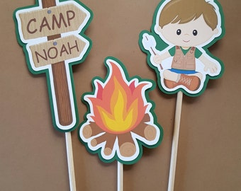 Camp Centerpiece, Camp Themed Centerpiece, Camp, Camp Party