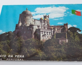 Vintage postcard from Portugal Palacio National da Pena
