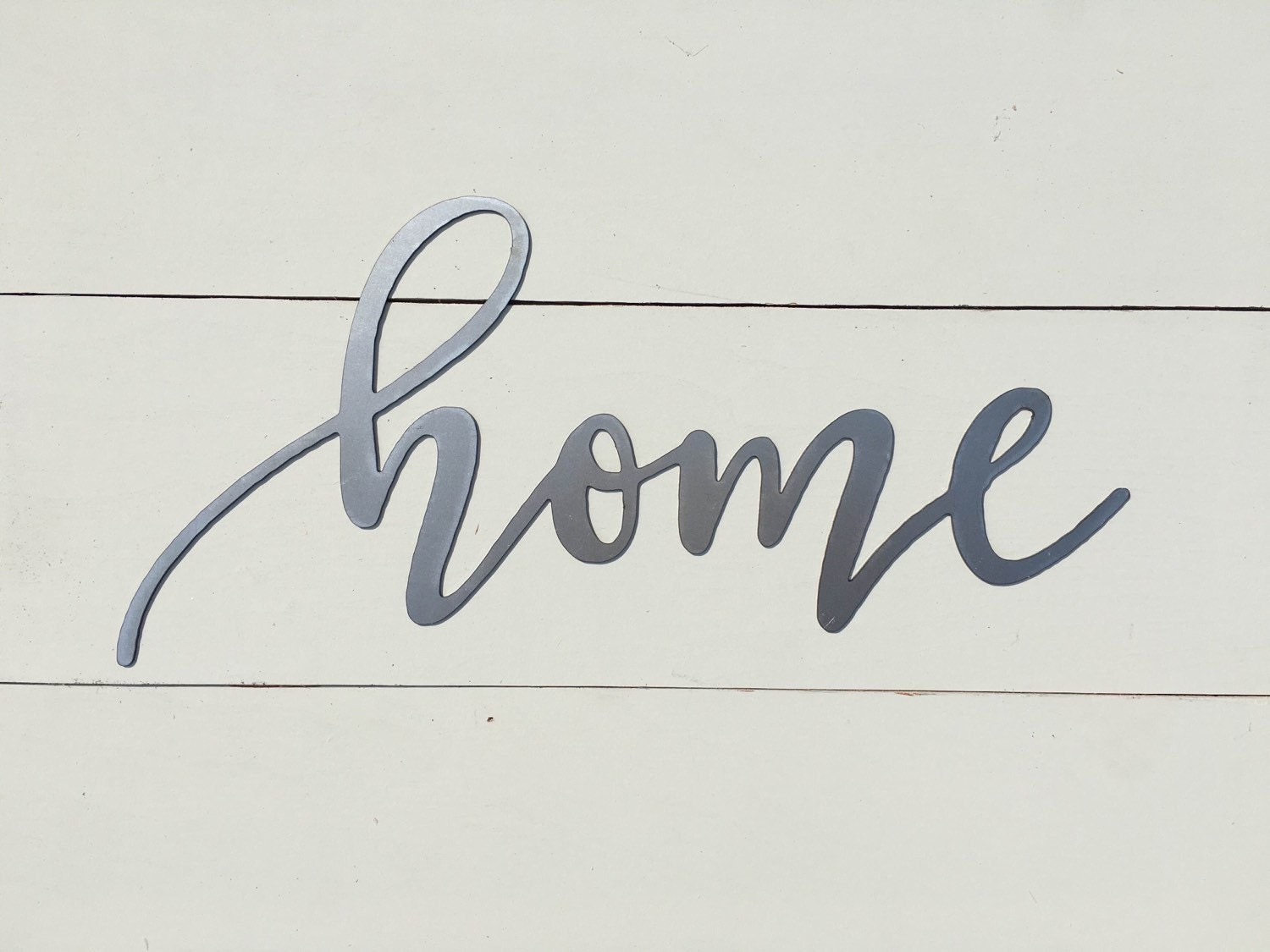Home Metal Word Sign 14.5 X 7 Farmhouse Decor