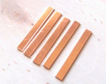 Copper ring blanks 18 gauge 5/16 inch wide by 2 inch long, copper tags - QTY 10