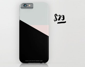 Pastel Triangle Black Based Phone Case