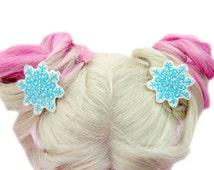 Snowflake Hair Accessories - Ice Princess Frozen Snowflake Hair Clip - Frozen Hair Clip - Frozen Snowflakes Hair Clip - Elsa Accessories