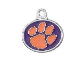 Clemson Tigers Paw Charm.