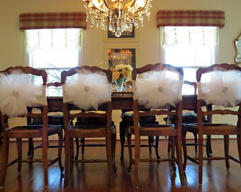 Bridal shower Chair Cover - Tutu Burst for bridal shower, baby shower,  tutu party, princess party chair decoration and   table decoration