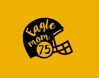 Eagle Mom Football Helmet SVG Studio Eps Pdf PNG vinyl cutting file