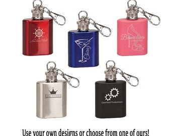 Personalized Mini Flask Keychain