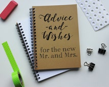 Advice and Well Wishes for the new Mr and Mrs - 5 x 7 journal