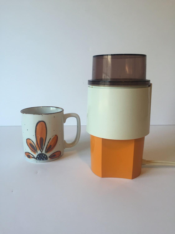vintage varco coffee grinder electric spice grinder orange. Black Bedroom Furniture Sets. Home Design Ideas