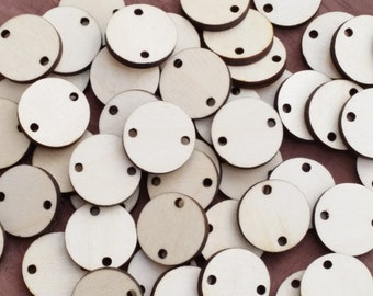 25 x Wooden Circle Base Craft Shape Wargame Bases Embellishments 20 mm