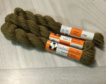 Gobelinwolle Tapestry Wool Yarn OLIVE GREEN 4160 3 Skiens 10 m Springer  Germany
