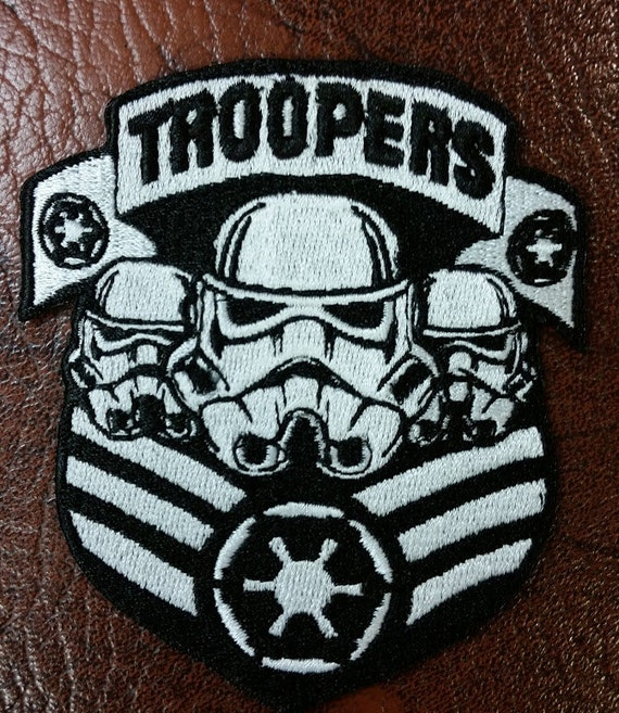 Sci Fi Troopers Embroidered Patch with Iron On Backing,  Empire Geeky Patch, Galactic Fun Embroidered Patch