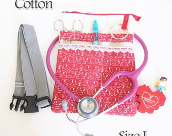 Elephant,  Zipper Nurse bag, Vet tech bag, waist nurse bag, Nurse tool belt, Nurse bag, Nursing student, Nurse gift idea, Nurse bag