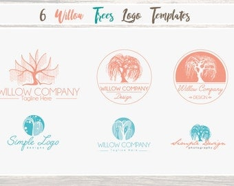 WillowTree Bundle- wedding photographer - Whimsical Logo Template Bundle - Instant Download Vector - various styles included in this bundle