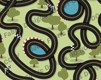 Race Track cotton lycra jersey knit fabric - UK seller