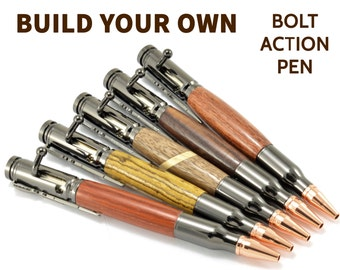 Wood Bolt Action Pen - Valentines Gun Gifts for Him -Wood Gun Pens -Rifle Bolt - Cool Bullet Pens - Engraved Gun Pen - Engraved Bullet Pens