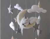 Baby mobile-Felt unicorn baby mobile - Baby mobile -felt baby mobile-unicorn baby mobile-stars and clouds baby mobile-moon baby mobile