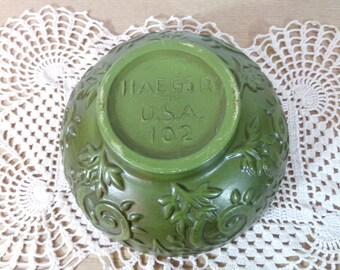 Vintage Olive Green Haeger 102 Bowl USA Vintage Kitchen