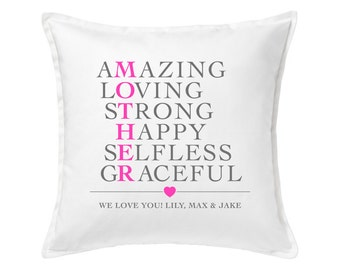 Personalized Mother Pillow Cover | Mother's Day Gift | Custom Pillow | Pillow Decoration | Home Decor | Grandmother Gift | Mom Gift