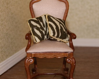 Dollhouse Miniature Zebra Pillows B