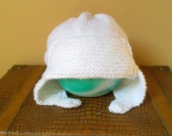 White Toddler Aviator Hat, Aviator Hat for 12-24 Month Olds