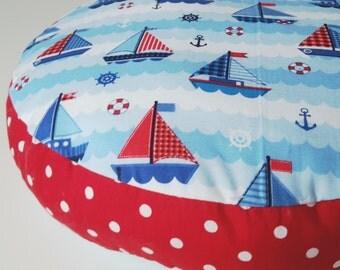 sweet floor cushions seat cushion 30 cm sailboat maritim points Red