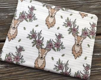 Burp Cloth ~ Boho//Tribal//Deer//Native//Floral//Rustic//Nature//Antlers//Bohemian
