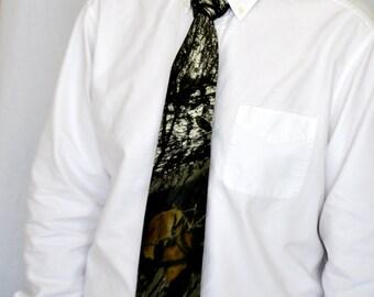 Mossy Oak Camouflage necktie, Mens standard