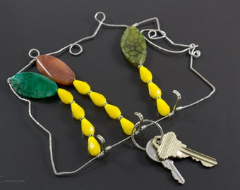 Unique Key Hooks unique key rack   etsy