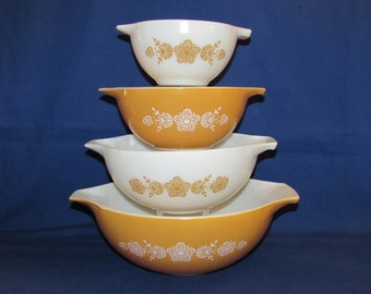 PYREX BUTTERFLY CINDERELLA Mixing Bowls
