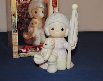 "PRECIOUS MOMENTS 1991 ""This Land is Our Land"" Christopher Columbus ENESCO"