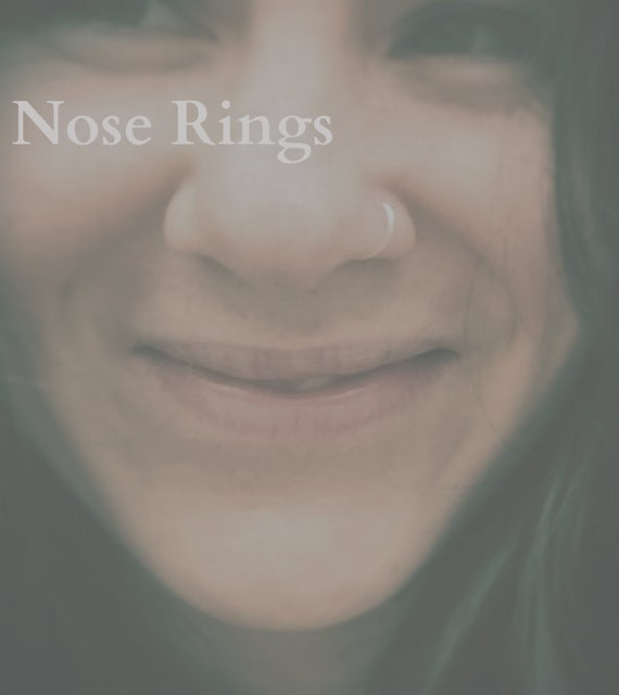 Gauged Silver Nose Rings  24G - 22G - 20G - 6mm 9mm 11mm 13mm - Silver Nose Hoop Ring