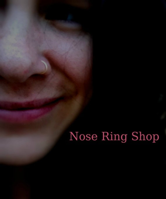 Tight Nose Rings, 24 Gauge, Thin, 22 Gauge,  20 Gauge, Thick, Silver, Big, Loose, Snug, Small, Tiny, Fitted, Nose Ring