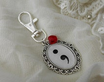 Mental Health Symbol Semi Colon Bag Charm/Key Ring
