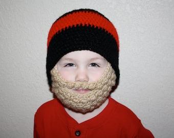 Blonde Beard Striped Hat