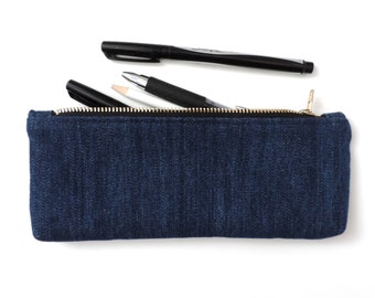 Denim Pencil Case Zipper Pouch